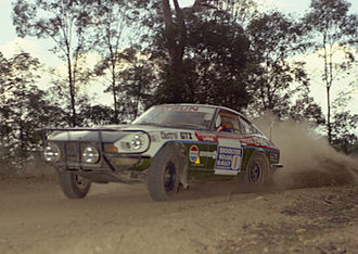 Ross Dunkerton - Ross Dunkerton in the Datsun 240Z which took him to his first Australian Rally Championship in 1975