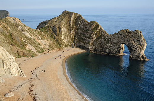 Durdle Door, a natural arch near Lulworth Cove