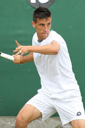 Damir Džumhur - Džumhur during 2014 Wimbledon Championships