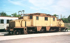 Kálmán Kandó - Italian 3-phase locomotive, note twin overhead current collectors