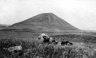 Bears Paw Mountains - McCann Butte in the Bearpaws, view to the west across glacial moraine. 1920 USGS photograph.