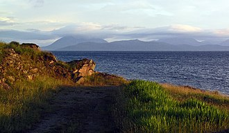 Applecross - Image: Early evening to Skye, from Milltown nr. Applecross village. panoramio