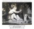 Early life of Christ in the Bowyer Bible print 12 of 21. infant John the Baptist. Reynolds.png