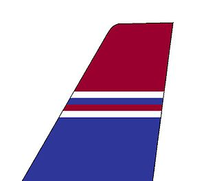 East-West Airlines (India) - Tail colours of an East-West Airlines Boeing 737