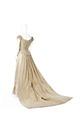 Ebba von Eckermanns brudutstyrsel bestående av klänning med underkjol, långärmat liv - Hallwylska museet - 89320.tif