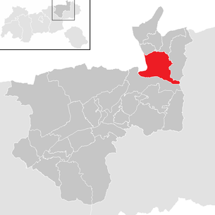 Location of the municipality of Ebbs in the Kufstein district (clickable map)