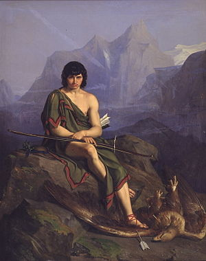 Heinrich Eddelien - Heinrich Eddelien: En bueskytte der hviler efter at have dræbt en ørn (An archer resting after having killed an eagle).