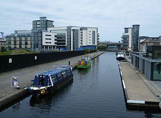 Union Canal (Scotland) - The eastern terminus at Edinburgh Quay
