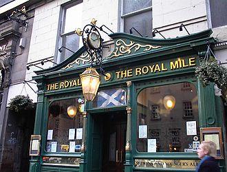 Beer in Scotland - Pub on Edinburgh's Royal Mile