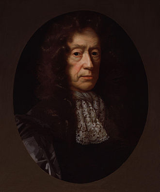 Edmund Waller - Portrait of Edmund Waller, by John Riley, circa 1685