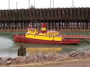 National Register of Historic Places listings in Lake County, Minnesota - Image: Edna G Tug Boat, Two Harbors b