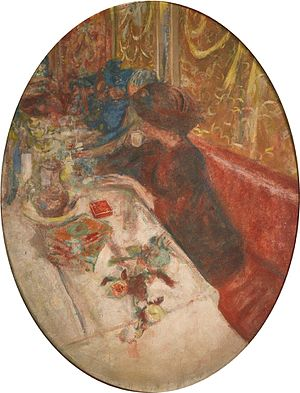 The Grand Teddy tea-rooms paintings - The Café (1918) by Edouard Vuillard