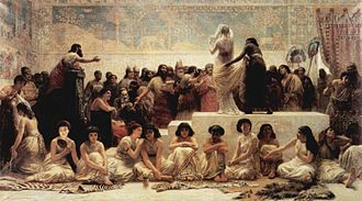 Histories (Herodotus) - Edwin Long's 1875 interpretation of The Babylonian Marriage Market as described by Herodotus in Book 1 of the Histories