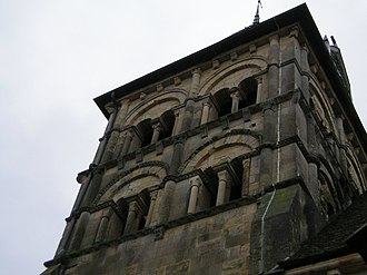 Marzy - The church tower in Marzy