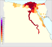 Egypt 2010 population density1