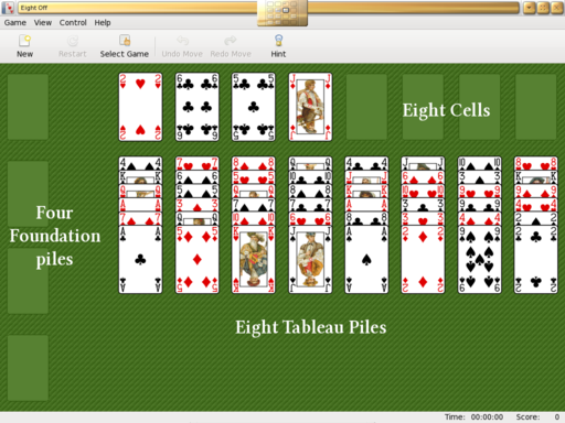 Solitaire Card Games Eight Off Wikibooks Open Books For