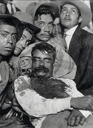 El cad%C3%A1ver de Emiliano Zapata%2C exhibido en Cuautla%2C Morelos