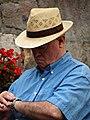 Elderly Man Checks His Watch - Bilbao - Biscay - Spain (14427244838).jpg