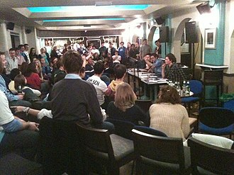 University of Nottingham Students' Union - Candidates attending a Candidate Question Time held on Sutton Bonington campus