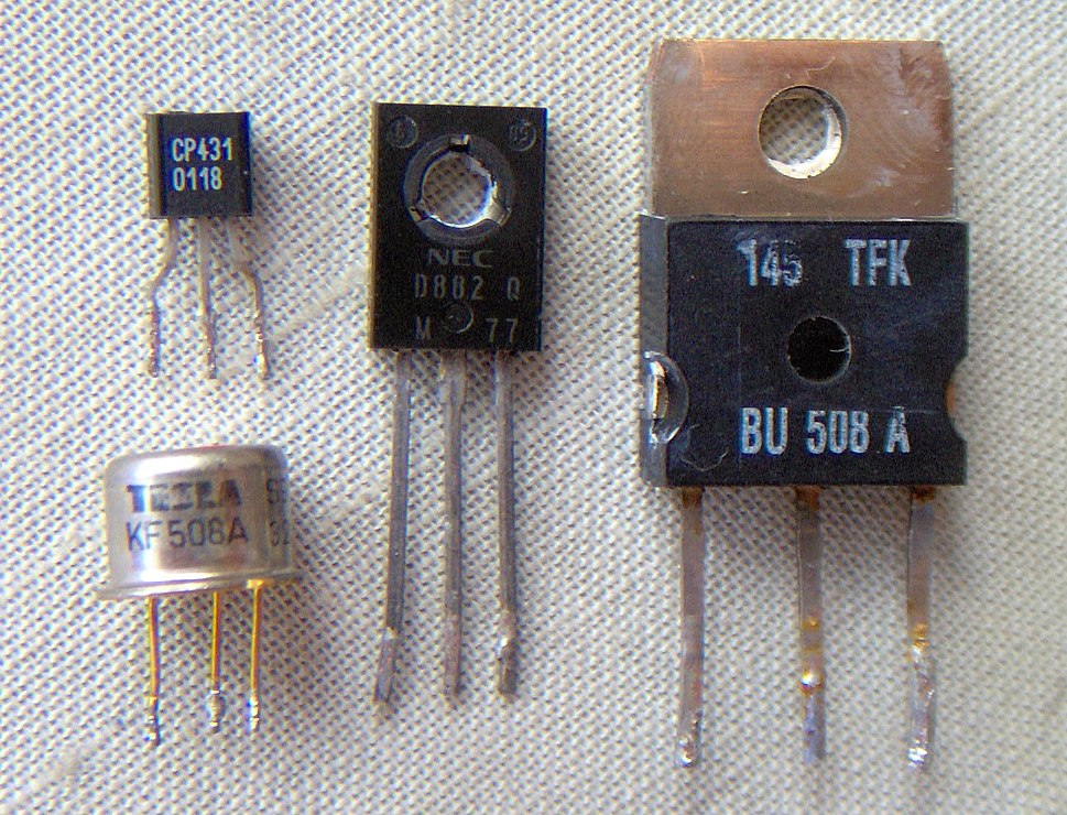 Electronic component transistors