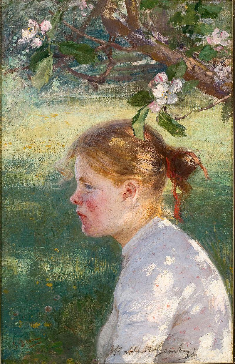 Elin Danielson-Gambogi - Under the apple tree (1898).jpg