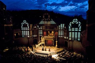 Oregon Shakespeare Festival - The outdoor Allen Elizabethan Theatre at the Oregon Shakespeare Festival
