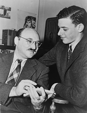 Ellery Queen - Frederic Dannay (left), with James Yaffe (1943)