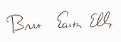 Signature de Bret Easton Ellis