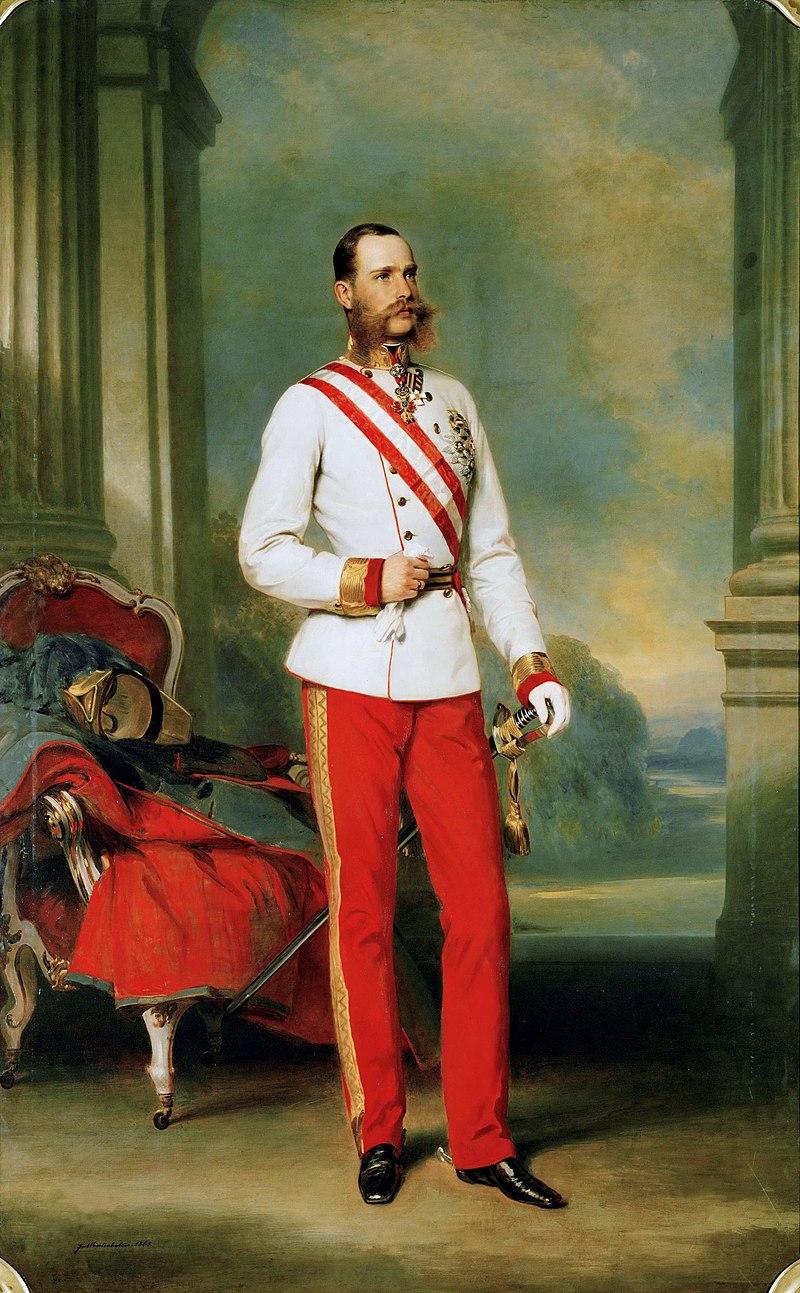 Император Остиры Франциск Иосиф,1865.jpg