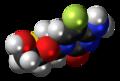 Emtricitabine molecule spacefill.png