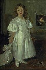 A Little Girl, Helga Melchior, in a Long Dress
