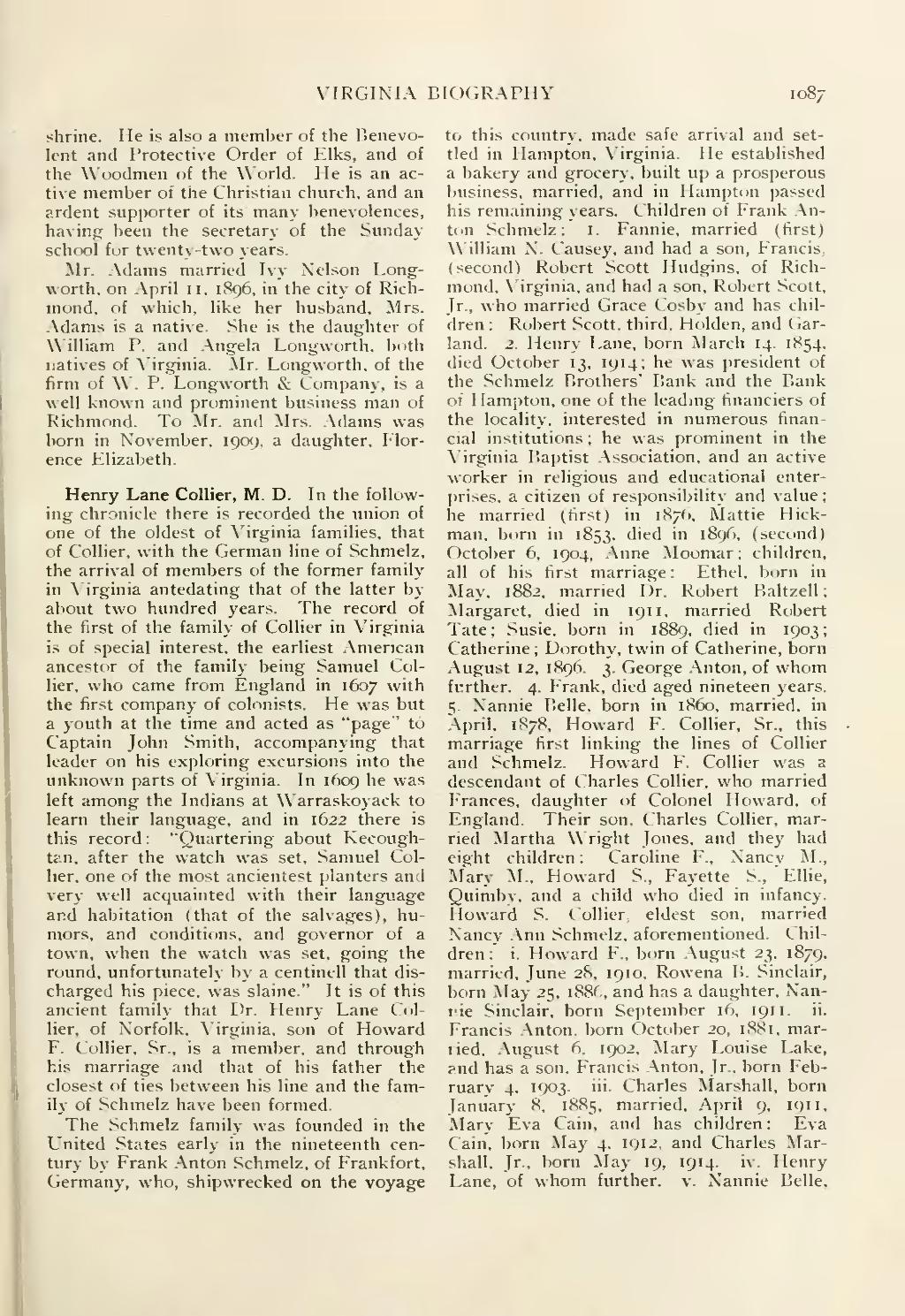 encyclopedia of virginia biography vol. iv