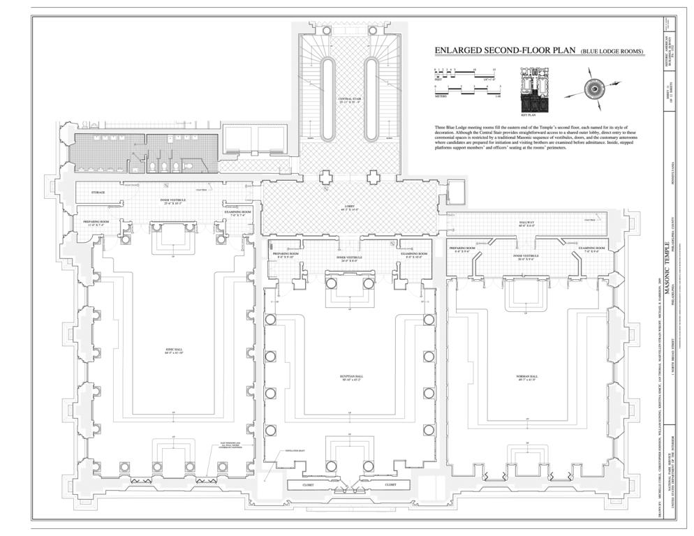 File Enlarged Second Floor Plan Blue Lodge Rooms Masonic Temple 1 North Broad Street Philadelphia Philadelphia County Pa Habs Pa 51 Phila 742 Sheet 11 Of 12 Png Wikimedia Commons