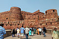 Entrance to Red Fort, Agra (8130283330).jpg