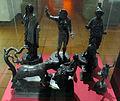 Epoca romana, statuette in bronzo di giove, giunone e minerva, 200 ac. ca, da muri presso berna.JPG