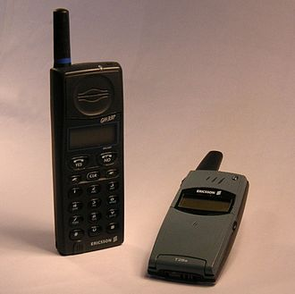 Ericsson - An Ericsson GH337 (1995) and Ericsson T28 (1999) mobile phones