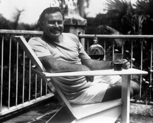 Ernest Hemingway at the Finca Vigia, Cuba 1946