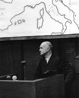 Alleged plot to kidnap Pope Pius XII - Erwin von Lahousen testifying at Nuremberg