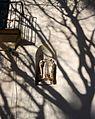 Escultura a la façana del monestir del Corpus Christi, Llutxent.JPG