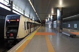 Aeroport (Metrovalencia) - Image: Estació d'Aeroport (Metrovalència)