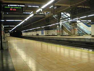 La Moraleja (Madrid Metro) - Image: Estación de La Moraleja interior