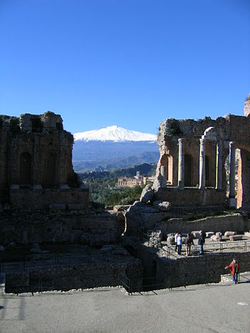 Mount Etna (Sicily) viewed from the Greek amph...