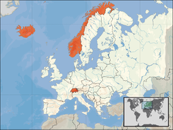 Location of the European Free Trade Association