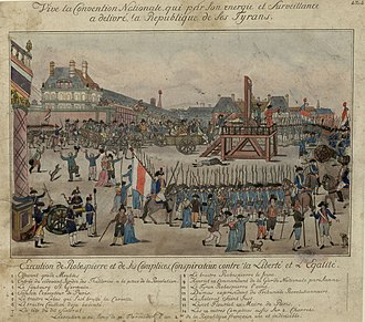 Capital punishment in France - Robespierre and associates executed 1794