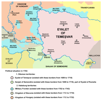 Military Frontier - Image: Eyalet of temesvar 1699
