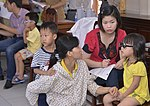 Eye screening for kindergarten children in Quoc Oai district of Hanoi (14308994532).jpg