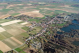 Aerial view of Féchain