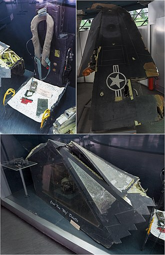 1999 F-117A shootdown - Image: F 117 (Canopy,ejection seat,wing; shot down over Serbia 1999)