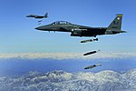 F-15E drops 2,000-pound munitions Afghanistan 2009.jpg