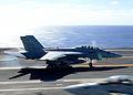 F-18F of VFA-2 landing on USS Ronald Reagan (CVN-76) 2013.JPG